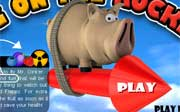 Miniclip game Pig on the rocket