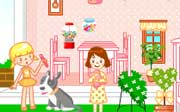 Miniclip game Sue doll house